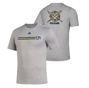 Coast Guard Academy Adidas Mens Homecoming 2021 Short Sleeve T-Shirt - Size S - 2XL Front And Back View